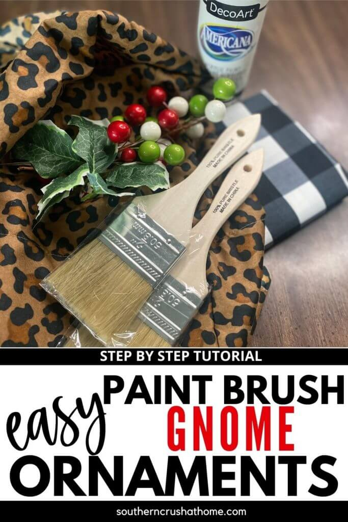 Paint Brush Gnome Ornaments Supplies PIN