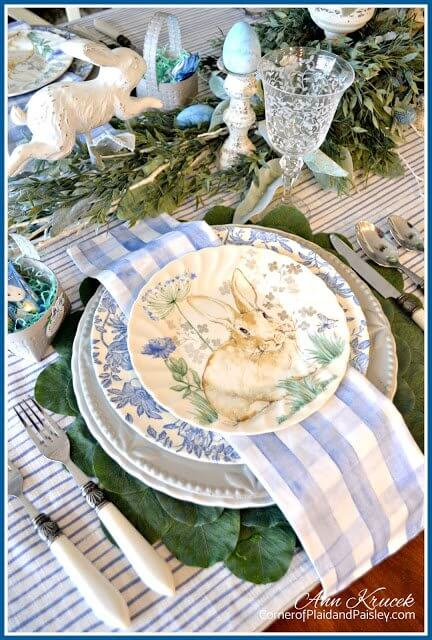 Blue Easter Placesetting
