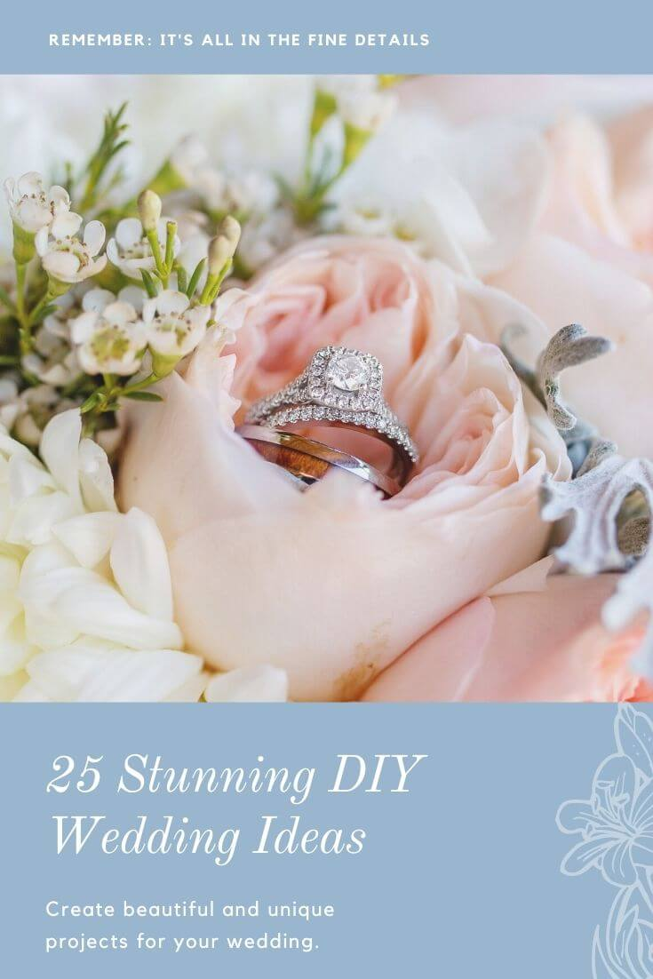 diy wedding ideas pin image