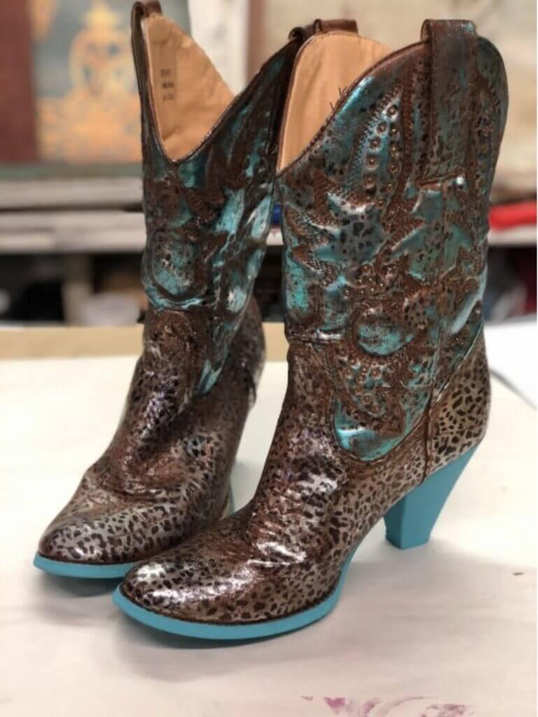 Designer Foil Finish boots