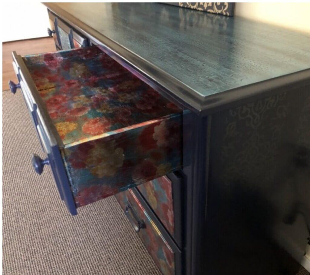 Designer Foil Finish dresser drawer