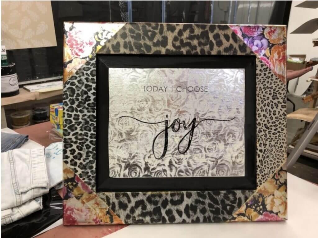 Designer Foil Finish picture frame