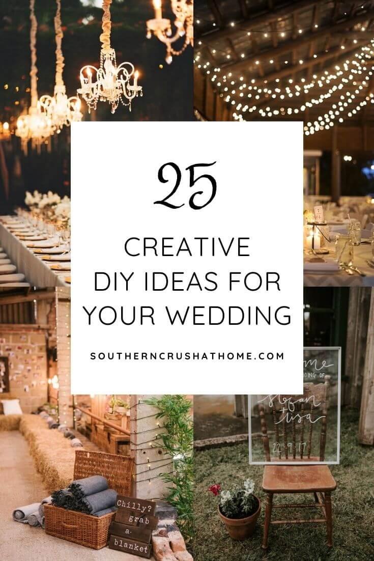 diy wedding ideas collage