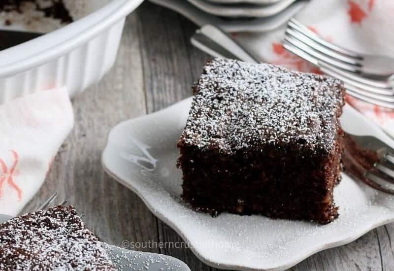 Close up of Chocolate Zucchini Cake