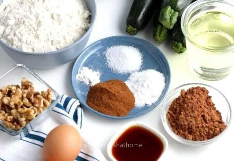 chocolate zucchini cake ingredients