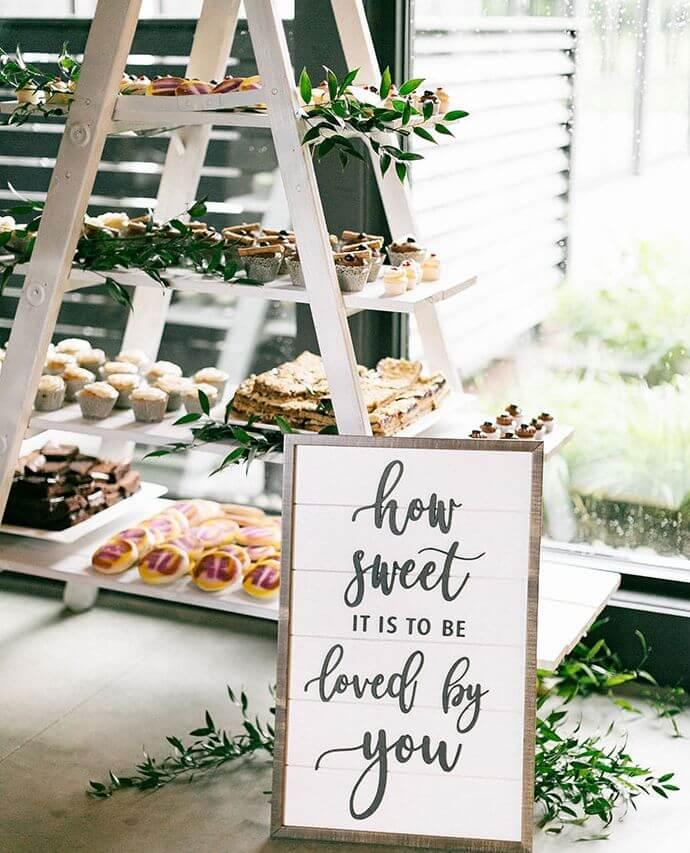 diy dessert ladder for weddings