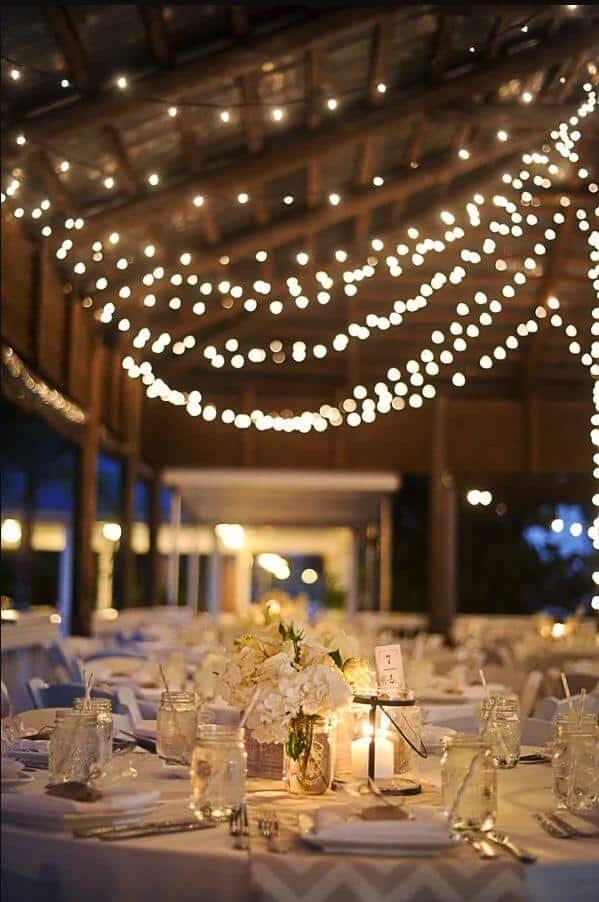 diy wedding with lights