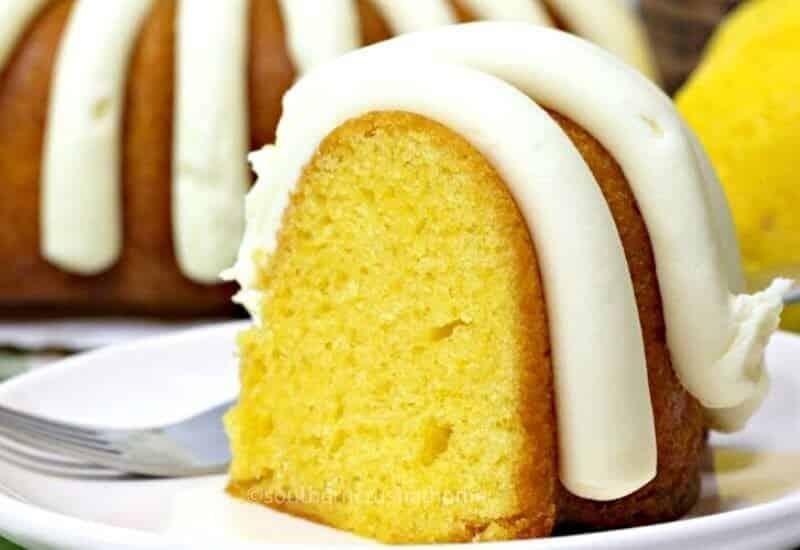 Lemon Bundt Cake final styled