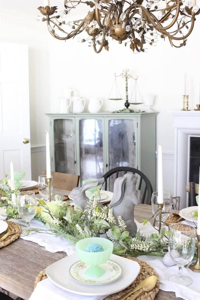 pastel Easter tablescape