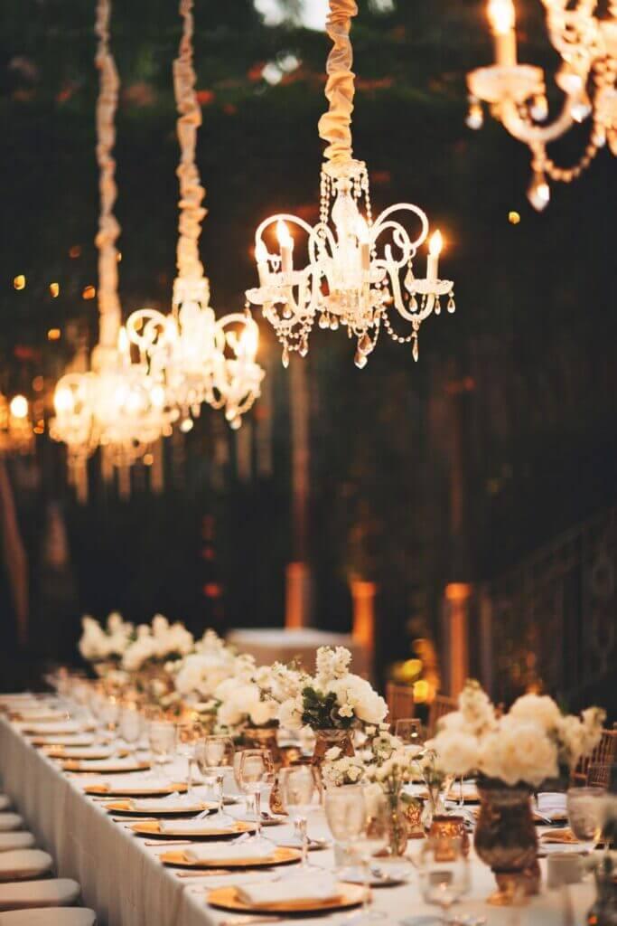 diy wedding chandeliers