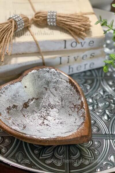 close up of wooden dough bowl diy