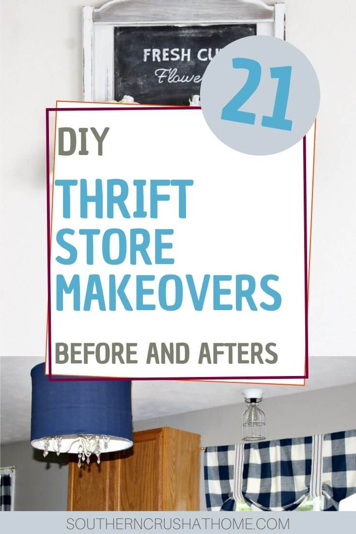 thrift store makeovers collage