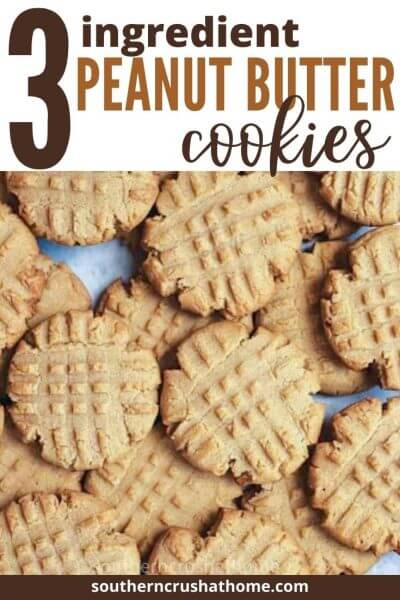 3. ingredient peanut butter cookies PIN