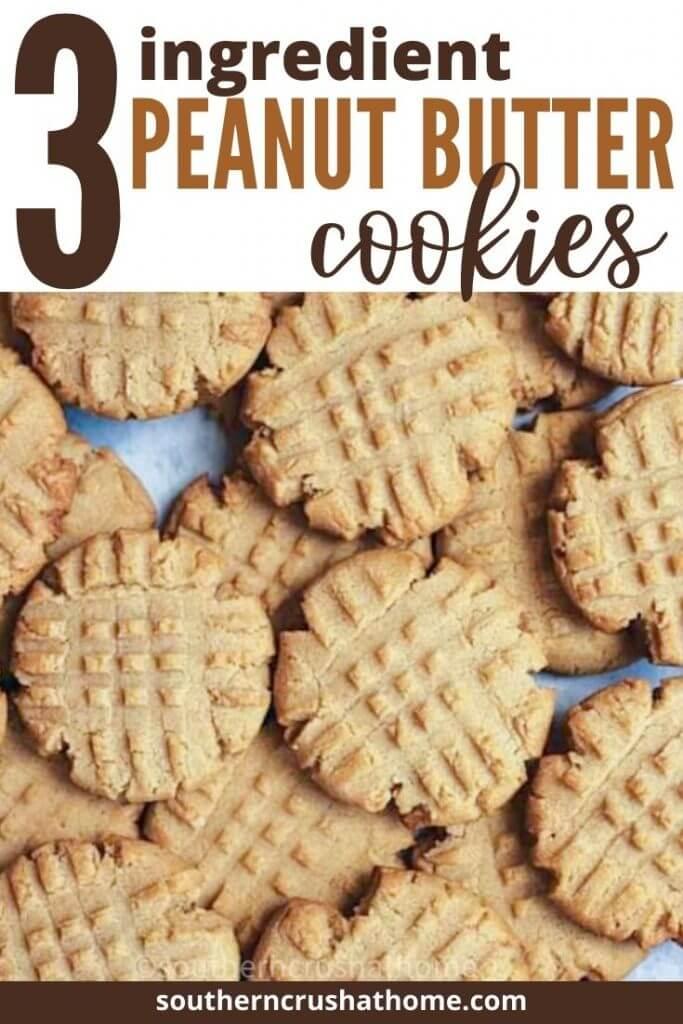3. ingredient peanut butter cookies PIN