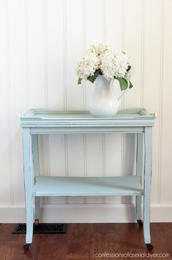.99 cent thrift store table makeover