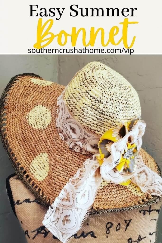 summer bonnet diy pin