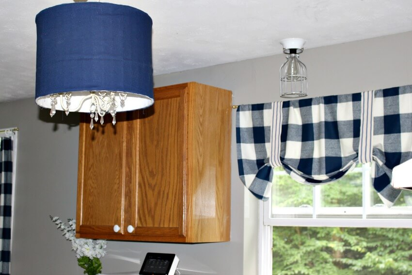 thrift store lampshade upcycle