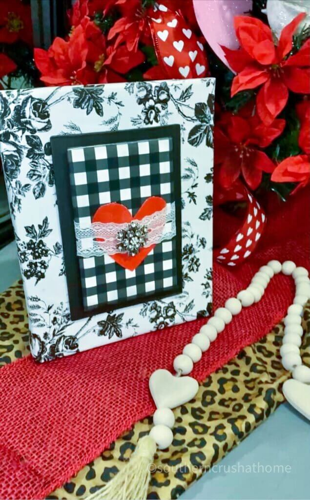 styled image of black and white valentines diy