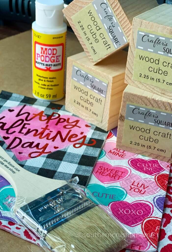 supplies for diy wood block