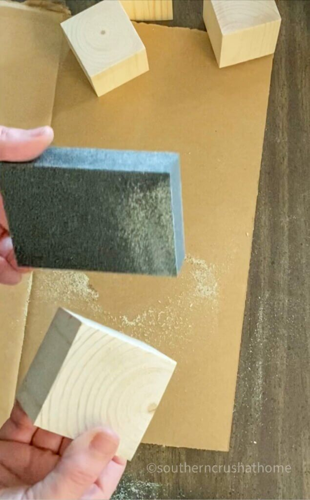 sanding diy wood block