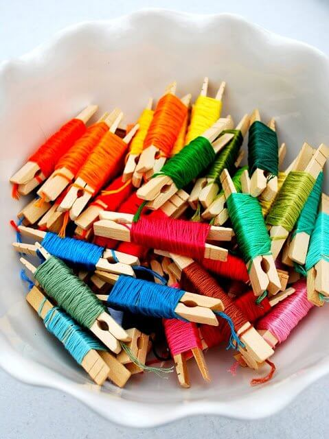 embroidery floss craft storage