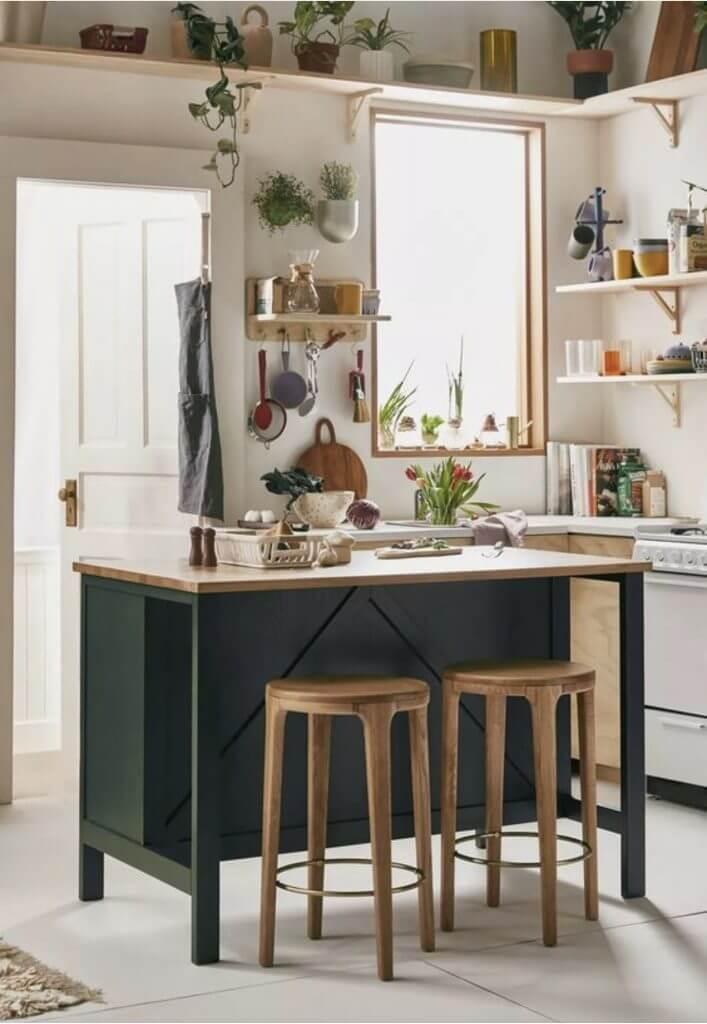 emerald green kitchen island