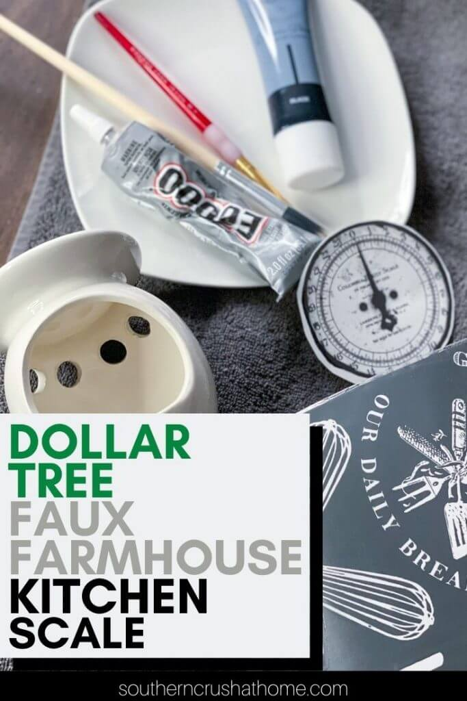 dollar tree farmhouse kitchen scale diy PIN