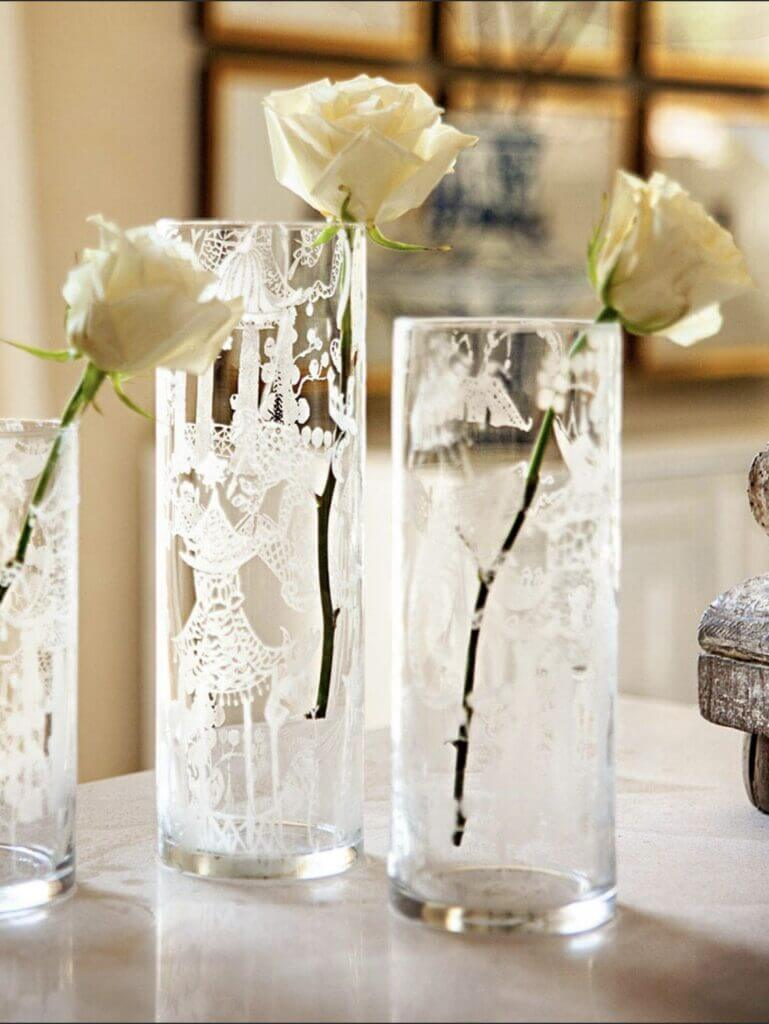 glass etching vases