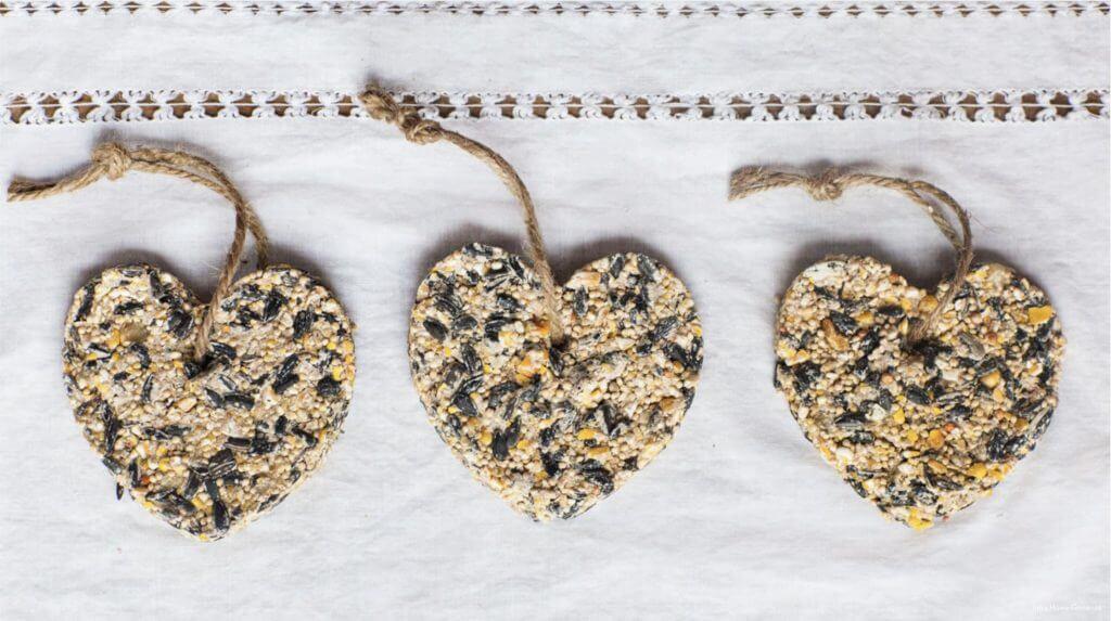 heart shaped bird feeders