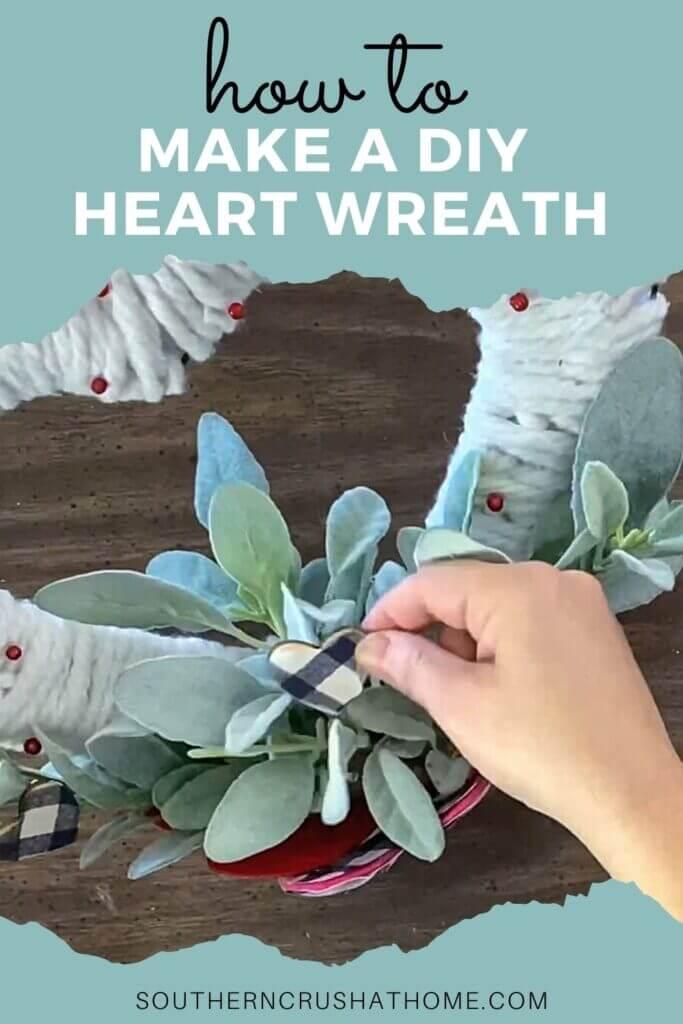 heart wreath diy PIN