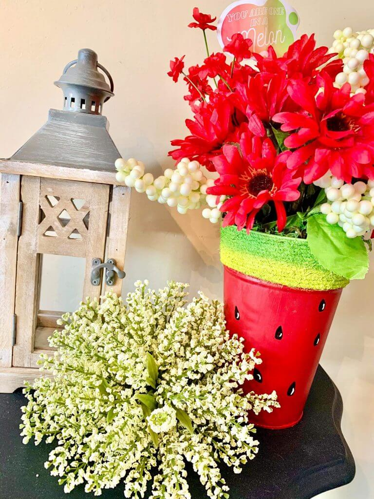 watermelon planter diy styled angle