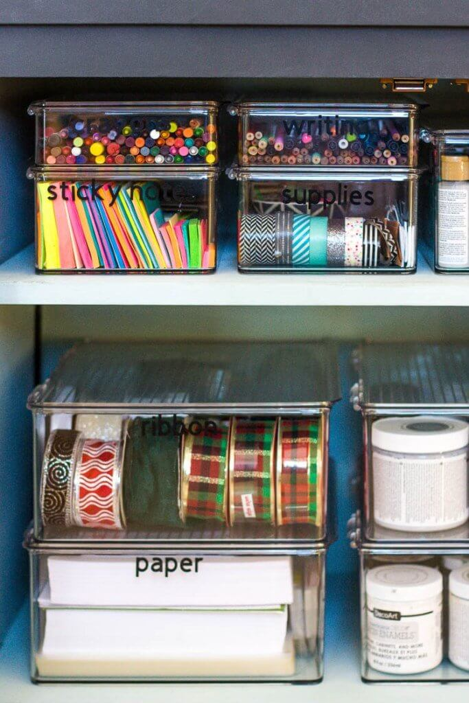 organized-craft-supplies