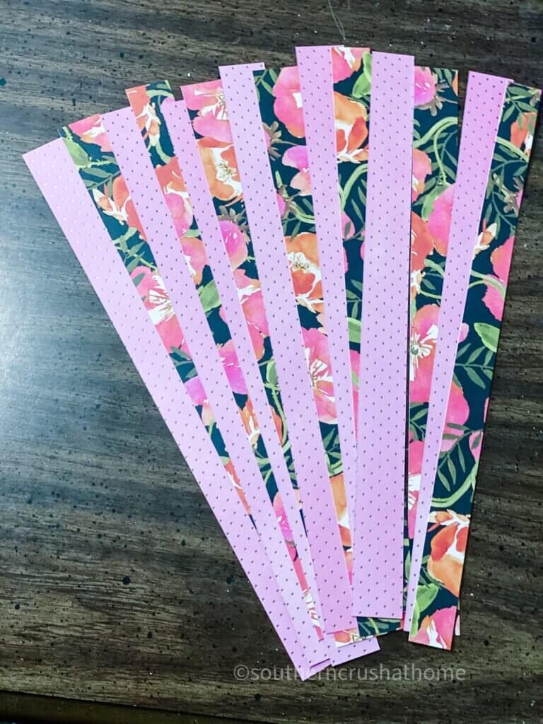 Scrapbook Paper strips