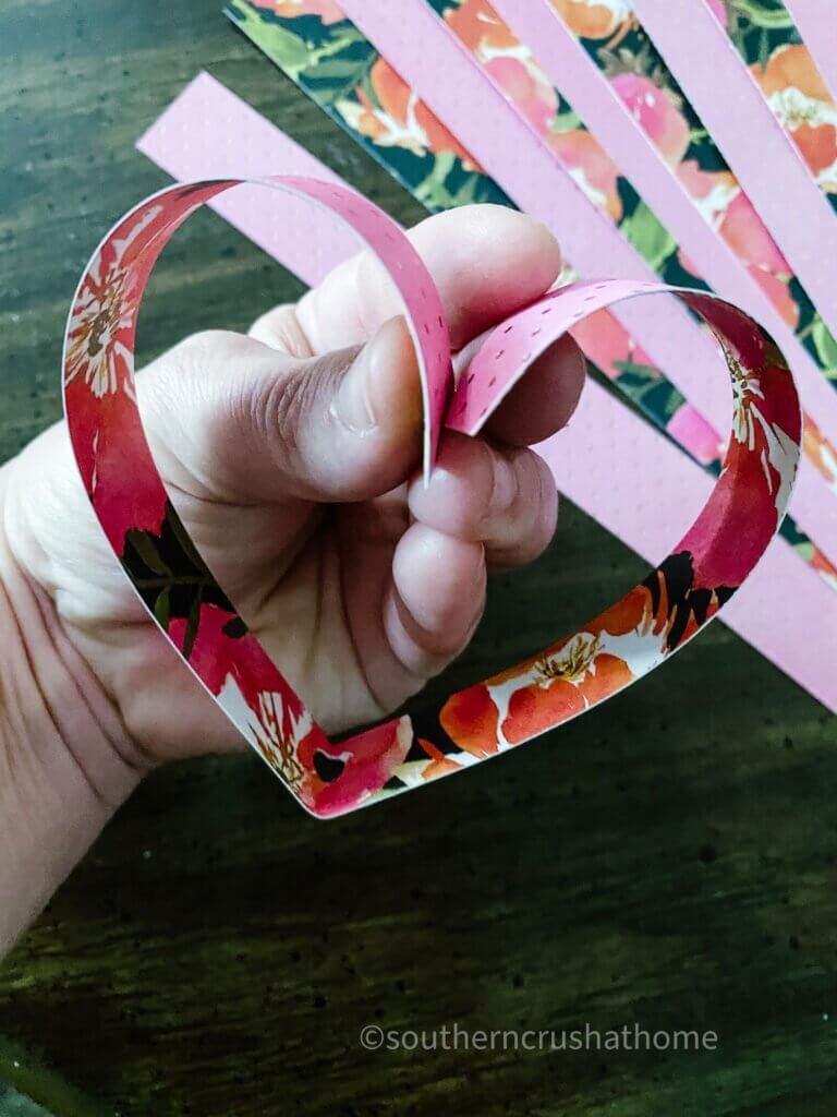 paper heart bending