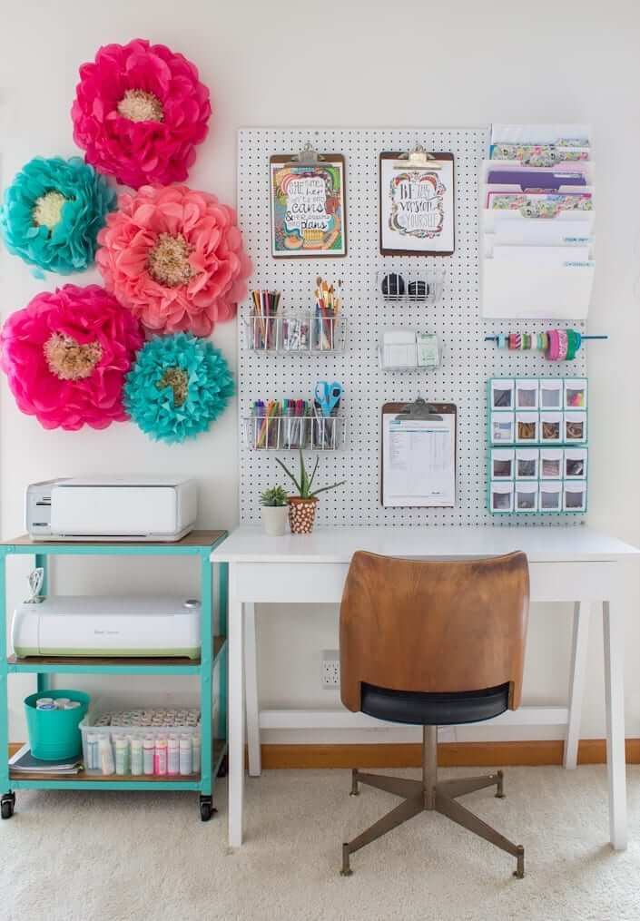 rolling storage craft room cart