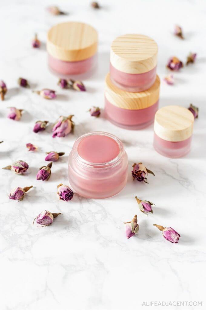 rose lip balm diy