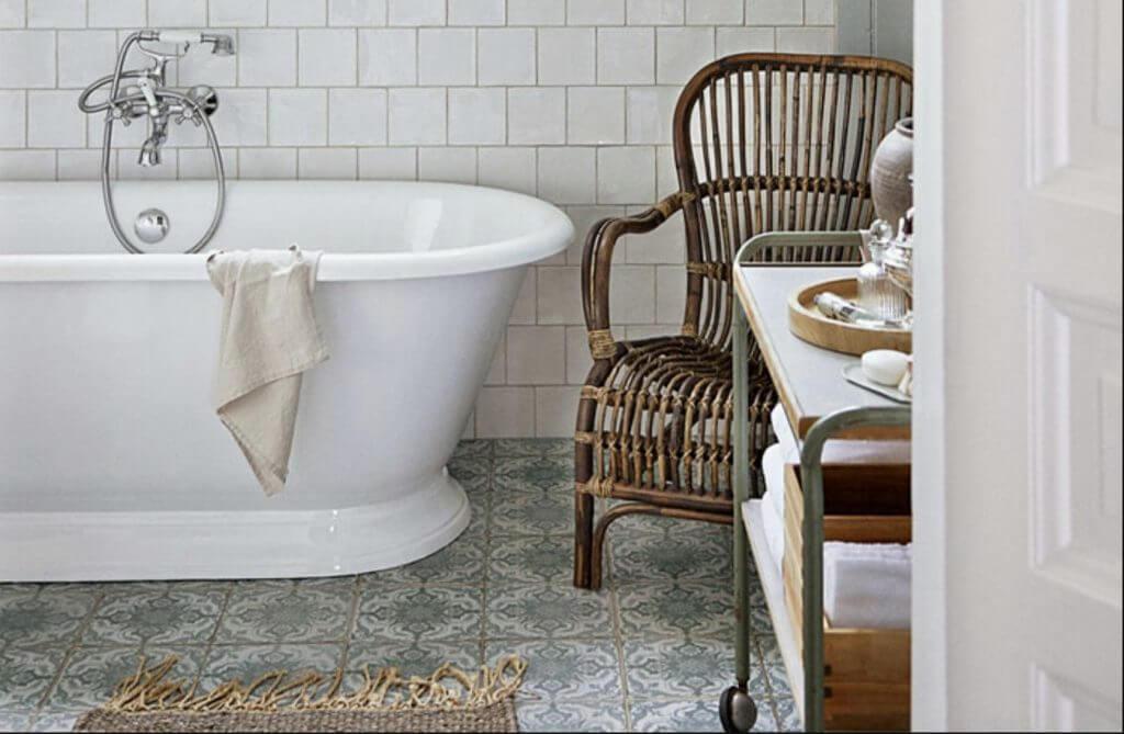 sage green white bathroom inspo