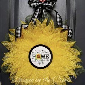 wreath kit sunflower