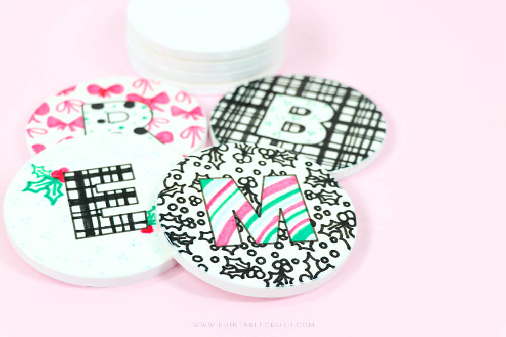 Cute Custom-Coasters made with Cricut