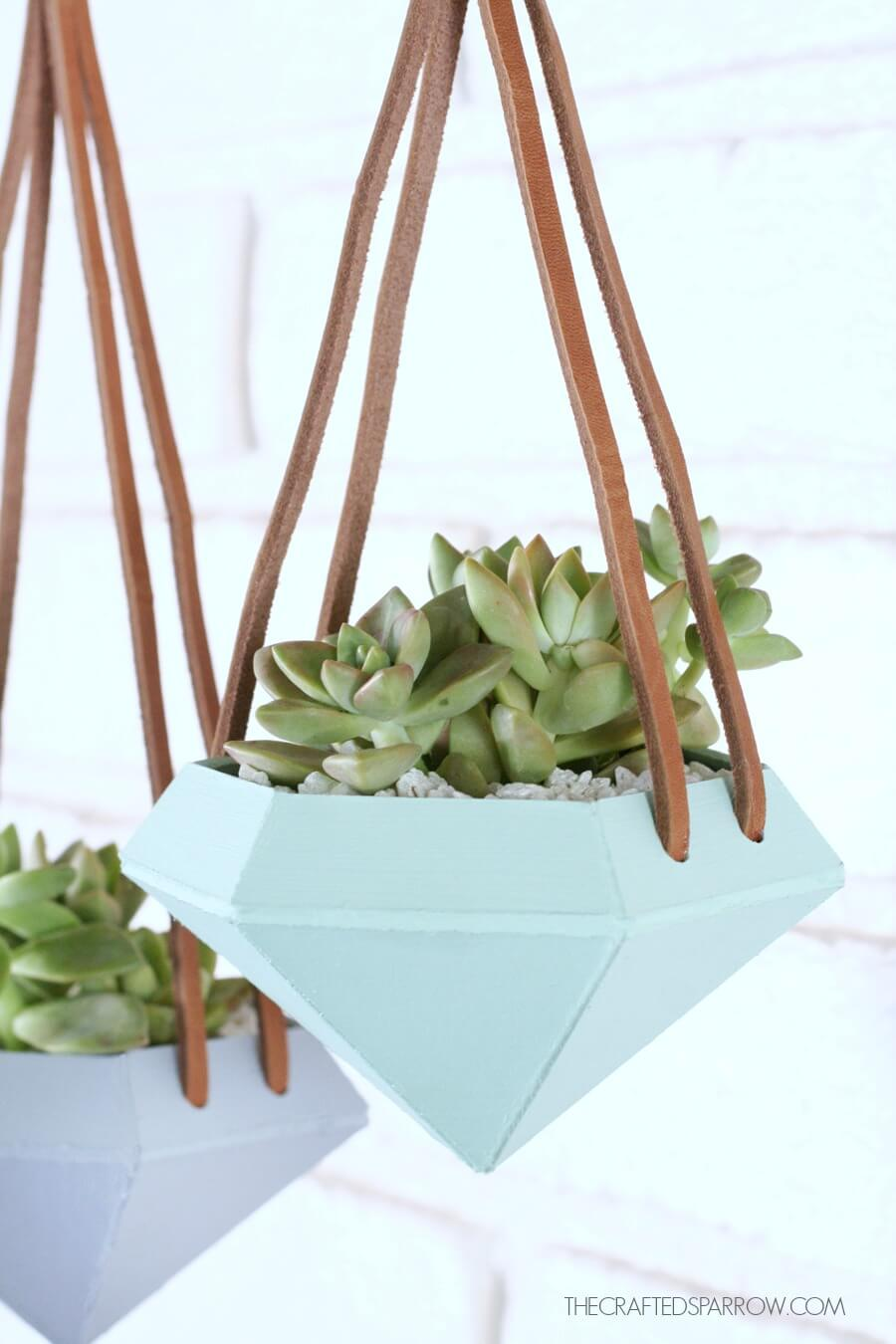 diamond succulent planter with cricut