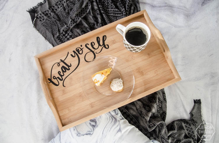 diy wood serving tray with cricut