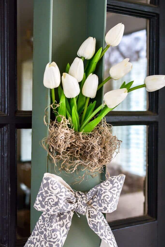 vintage safety deposit box spring wreath