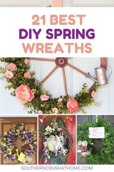 21 best diy spring wreaths pin collage