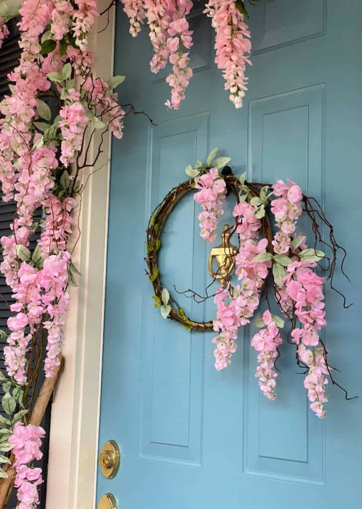 diy wisteria spring wreath