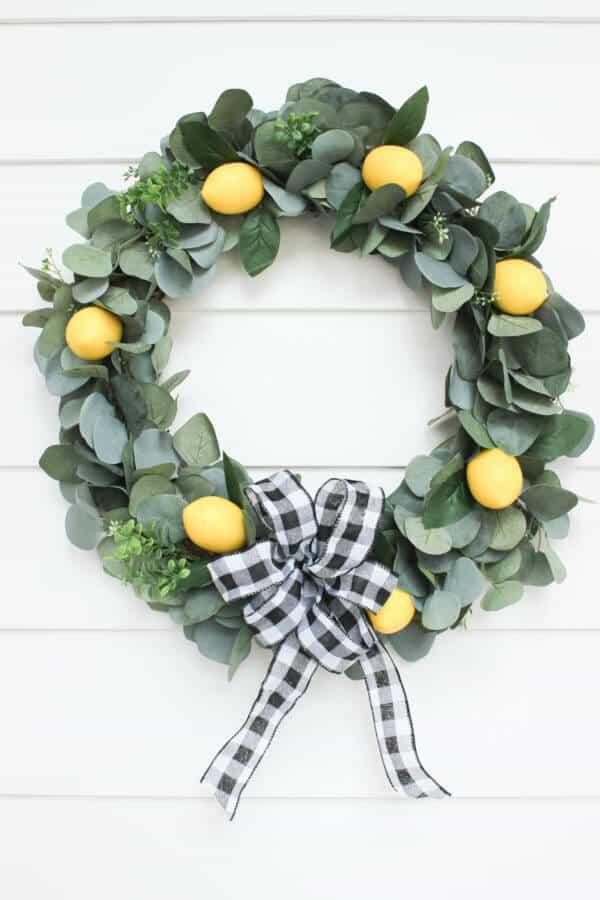spring lemon wreath diy