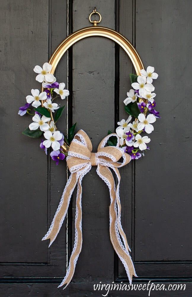 vintage picture frame spring wreath diy