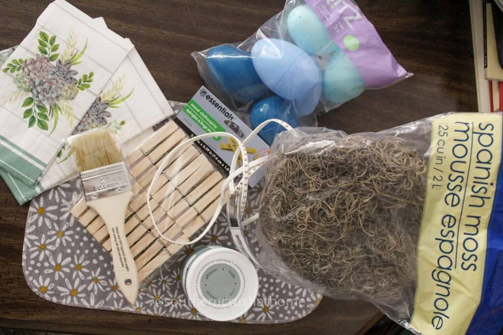 BOHO-Dollar-Tree-Easter-Decor Supplies