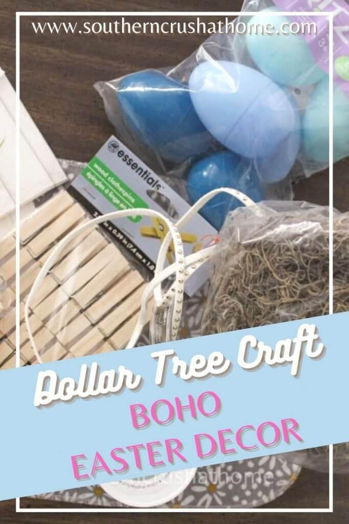 dollar tree boho decor supplies