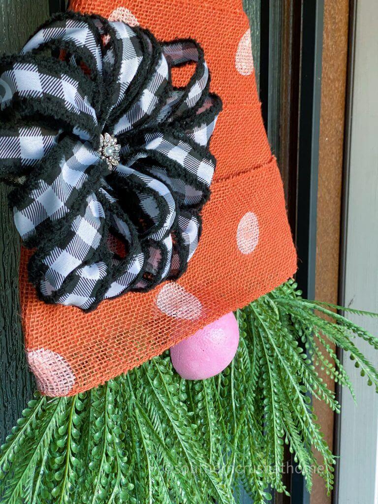 Burlap Carrot Gnome Door Decor