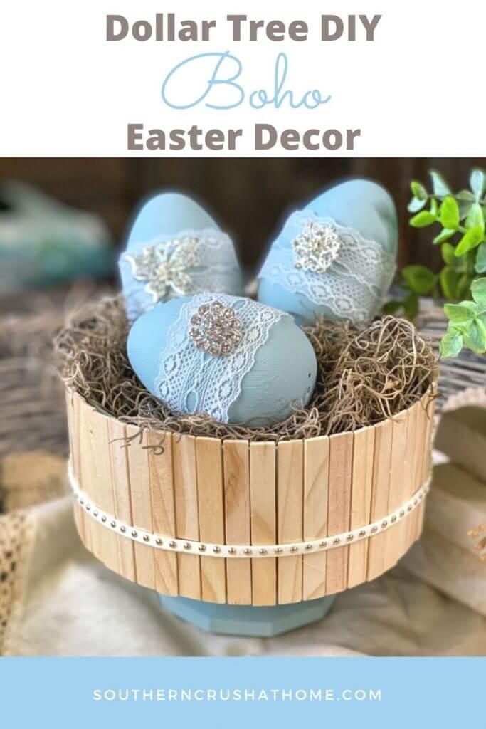 BOHO Dollar Tree Easter Decor PIN